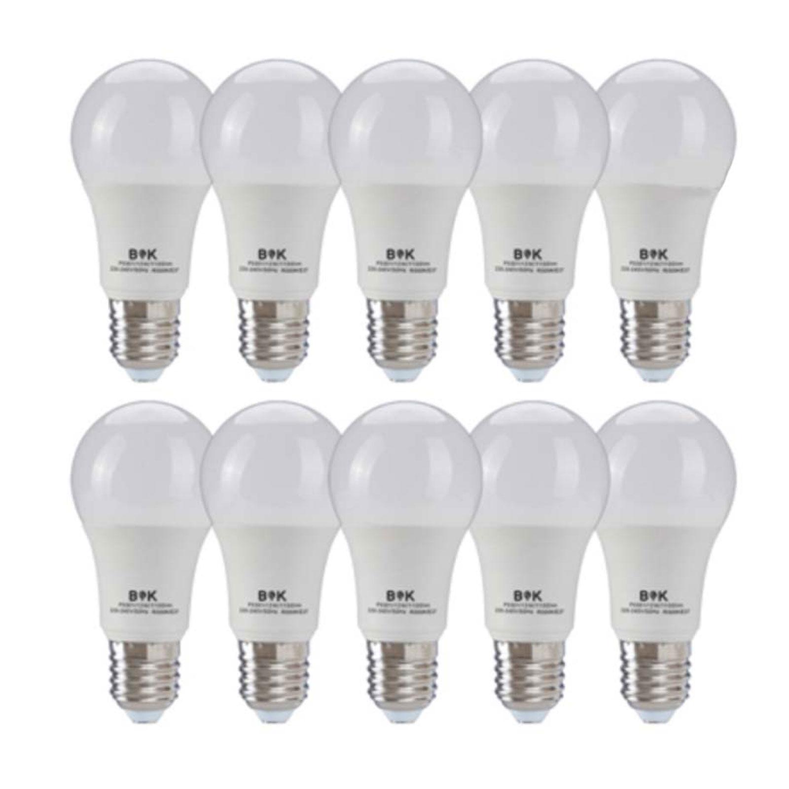 لامپ ال ای دی حبابی 15 وات بابک بسته 10 عددی