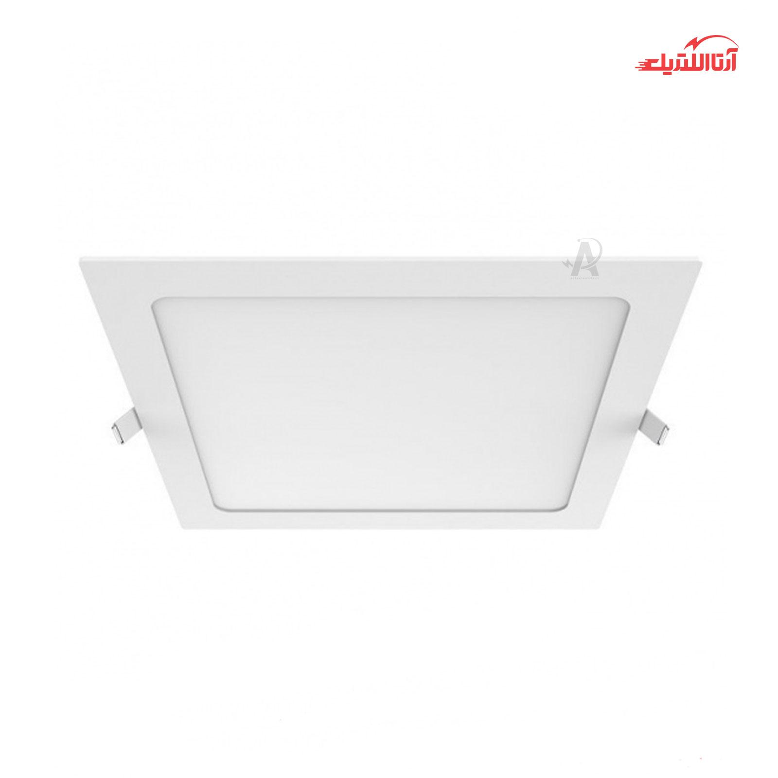 پنل سقفی 24 وات مربع فنر تا فنر 28×28 توکار SMD LED یکتا افروز