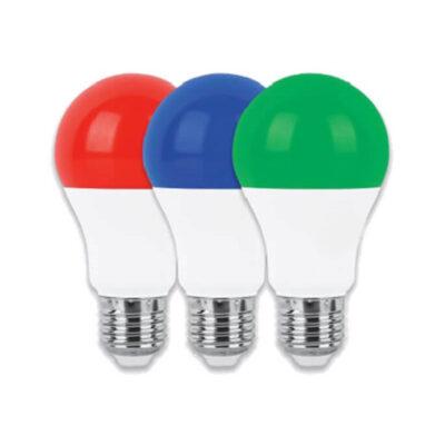 لامپ ال ای دی حبابی 9 وات E27 رنگی پارس شوان