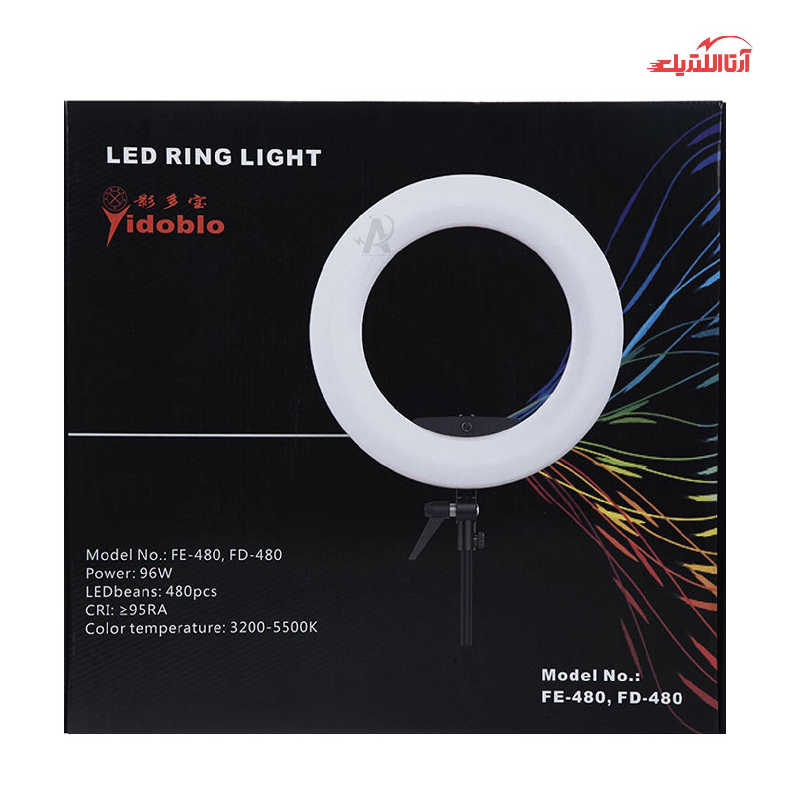 رینگ لایت مدل Yidoblo LED FE-480 II با سه پایه