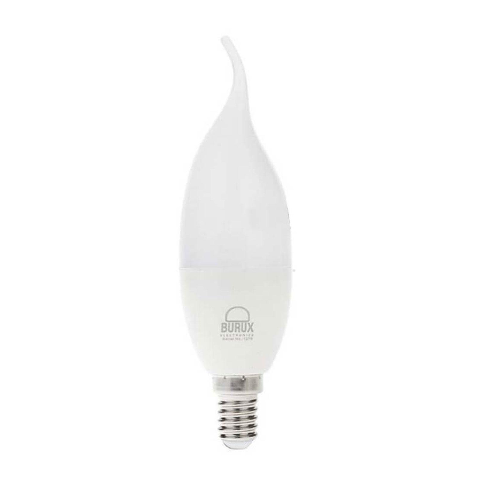 لامپ ال ای دی شمعی اشکی 7 وات E14 مدل C37L بروکس