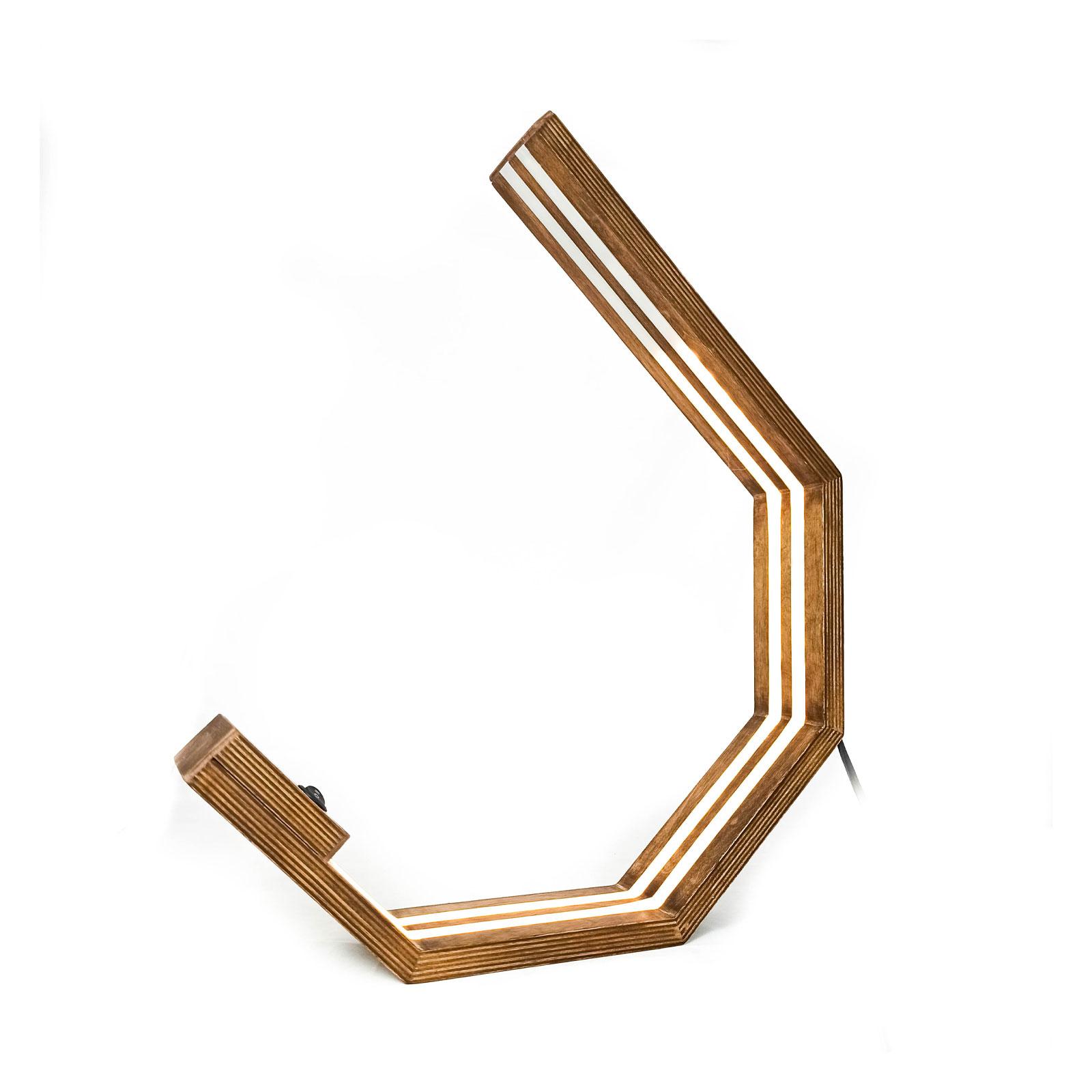چراغ رومیزی چوبی کد C-110 آرتا الکتریک