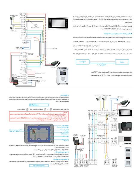 مشخصات فنی آیفون مانیتور رنگی دیجیتال تک نما مدل VDP-E70