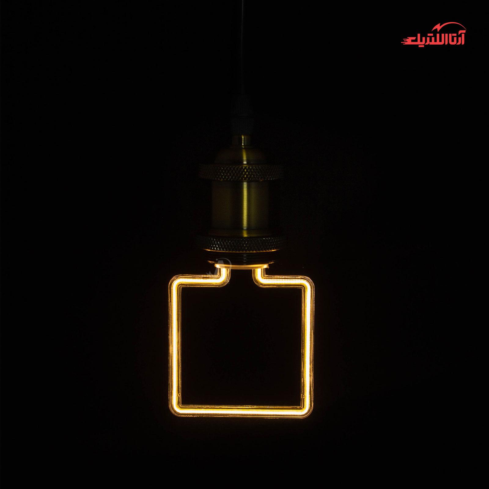 لامپ نئونی مربعی مدل ML-A06 سرپیچ E27