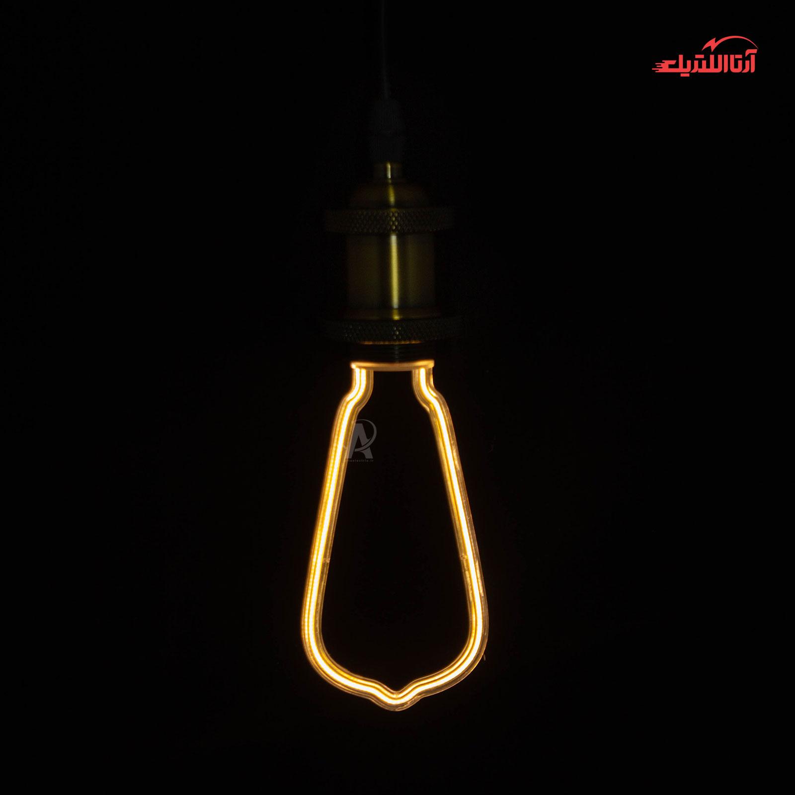 لامپ نئون گلابی مدل ML-A10 سرپیچ E27
