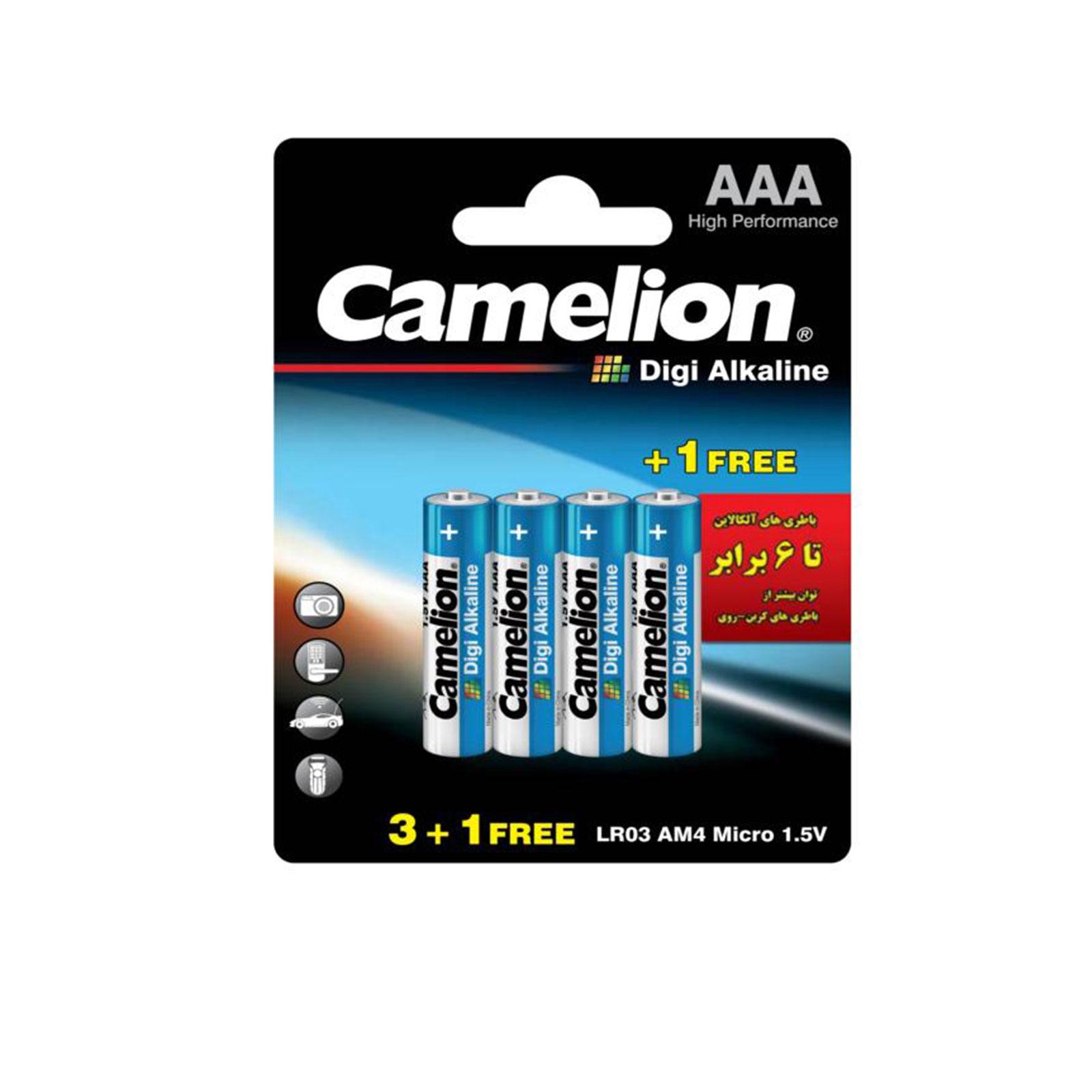 باتری نیم قلمی Digi Alkaline بسته 4 عددی کارتی
