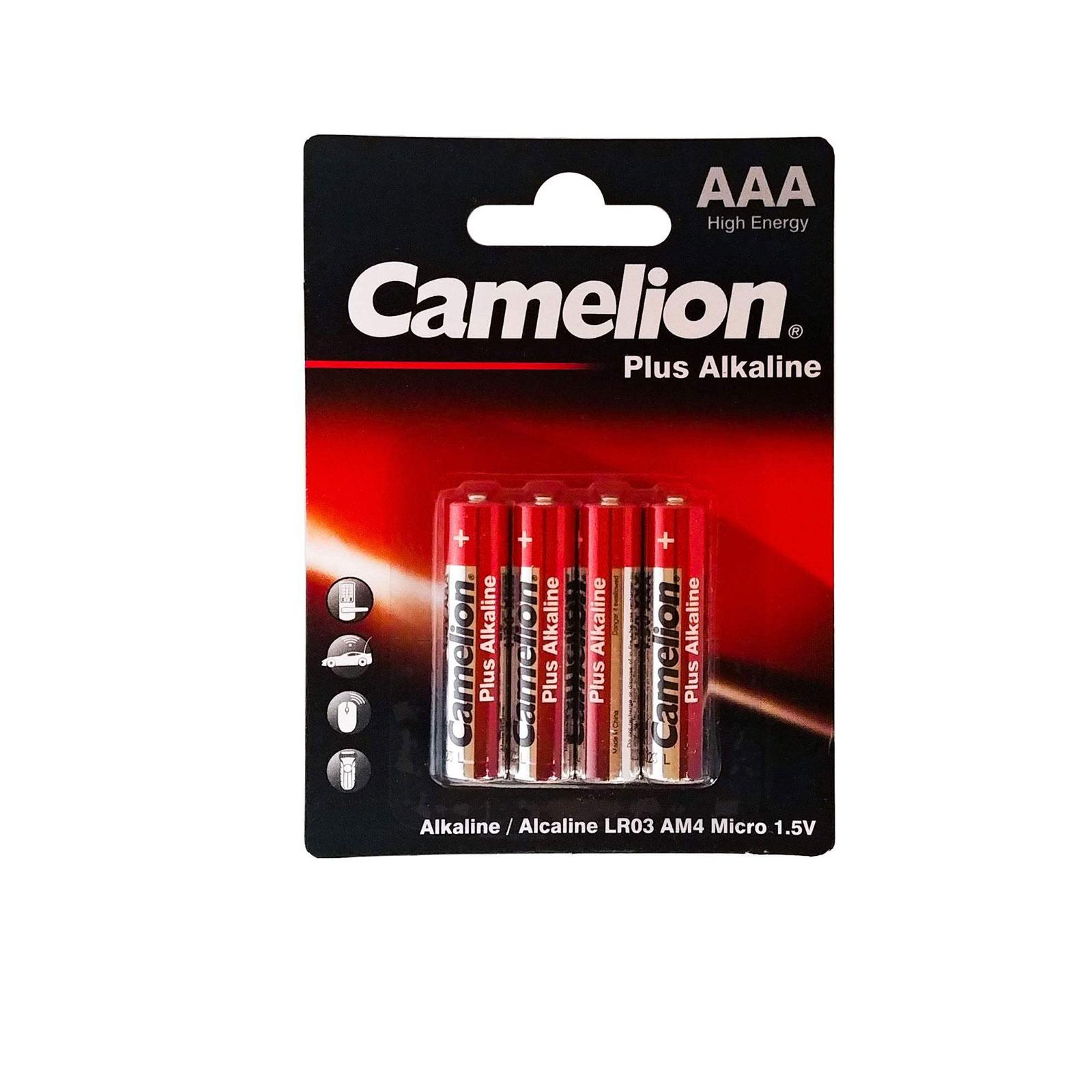 باتری نیم قلمی مدل Plus Alkaline کملیون بسته 4 عددی