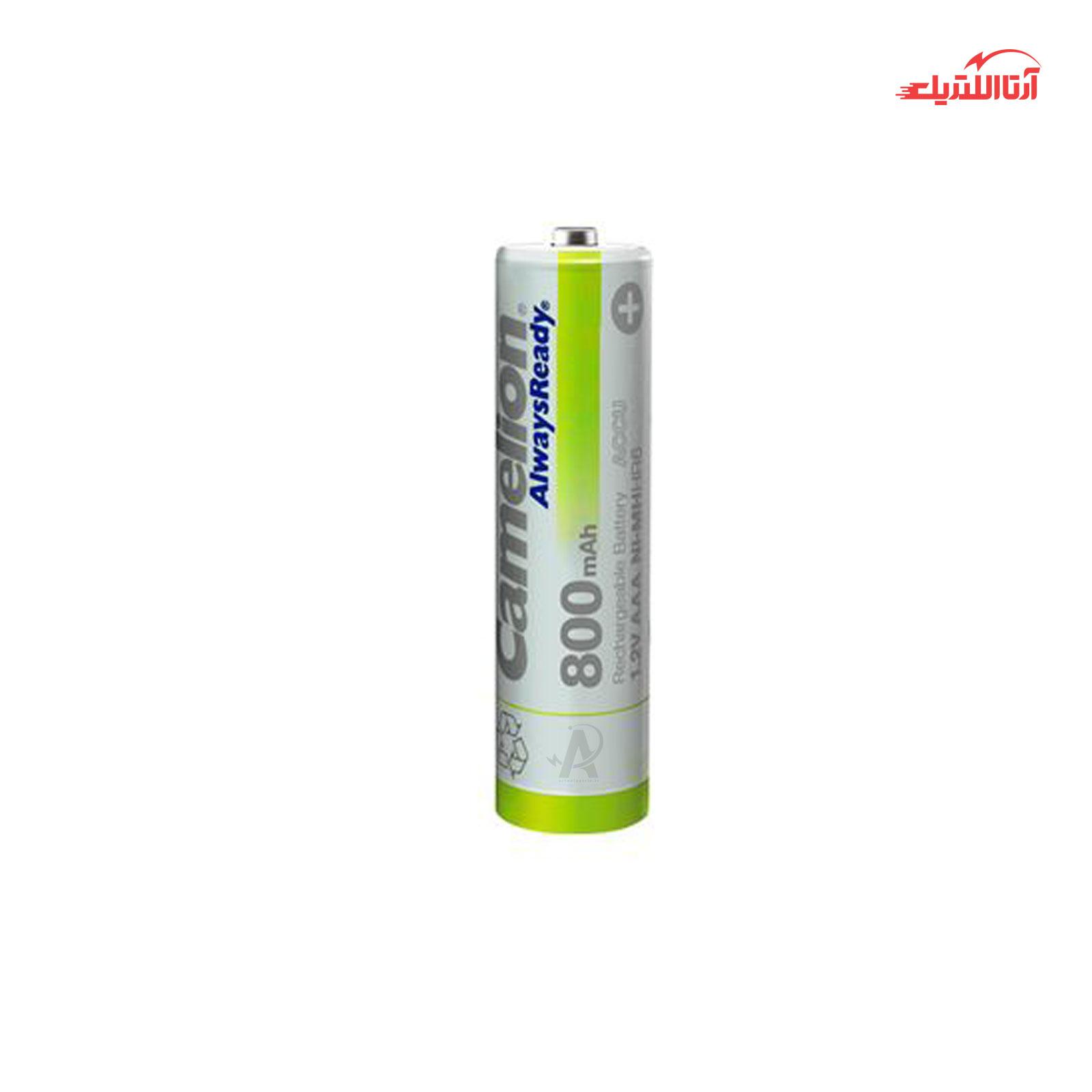 باتری نیم قلمی قابل شارژ کملیون مدل Always Ready ظرفیت 800mAh بسته 2 عددی