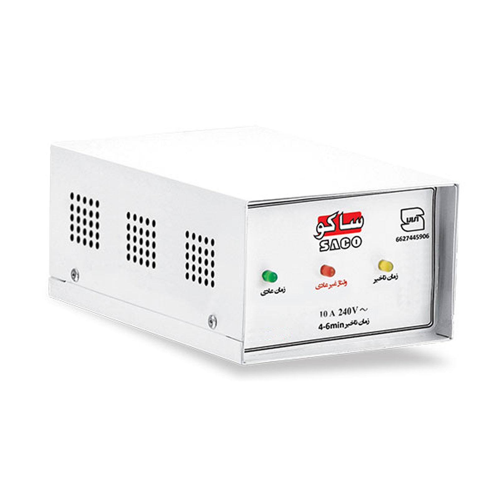 محافظ برق لباسشویی و ظرفشویی با بدنه فلزی ساکو کد 33305