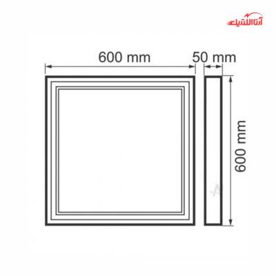 پنل 50 وات 60 در 60 روکار SMD فاین الکتریک FEC-100