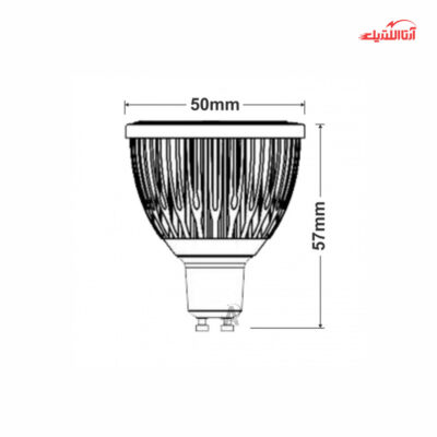 لامپ 4 وات هالوژن 12 ولت سرپیچ GU10 فاین الکتریک