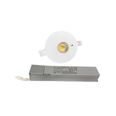 چراغ اضطراری توکار 4 وات برش 9.5 سانتی فاین الکتریک FEC-9204